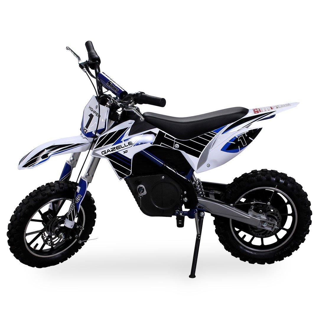 Gazelle ELEKTRO - Mini motocicleta de cross, 500 W, incluye horquilla reforzada, color azul: Amazon.es: Coche y moto