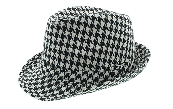 Bear Bryant Style Fedora Houndstooth Hat (S M) at Amazon Men s ... 1e36d801ca1