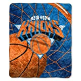Officially Licensed NBA New York Knicks Reflect Sherpa on Sherpa Throw Blanket, 50' x 60'
