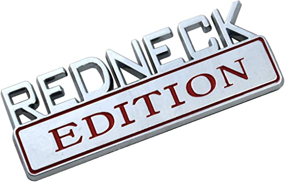 Matte Black 2X Redneck Edition Emblem Truck Sticker Replacement For F-150 F250 F350 Silverado RAM 1500