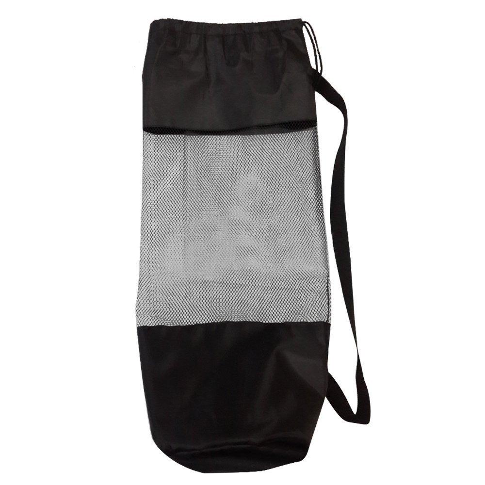 Portable Polyester Mesh Adjustable Strap Yoga Pilates Mat Storage Drawstring Bag Carrier Sport Fitness Bag
