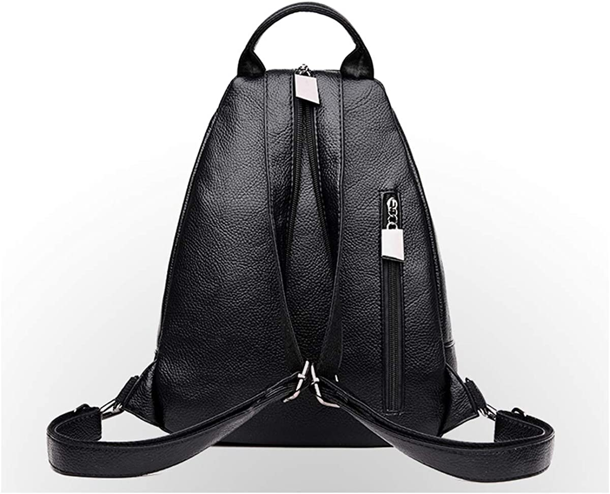 Color : Black, Size : 25cm30cm9cm PU Leather ZHICHUANG Girls Multipurpose Backpack for Daily Travel//Travel//School//Work//Fashion//Leisure Black//Red//Brown 2019 New for Women /& Men