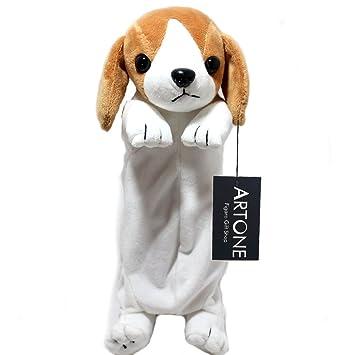 Artone - Sfocato - Estuche estacionario para lápices o cosméticos en forma de perro Beagle