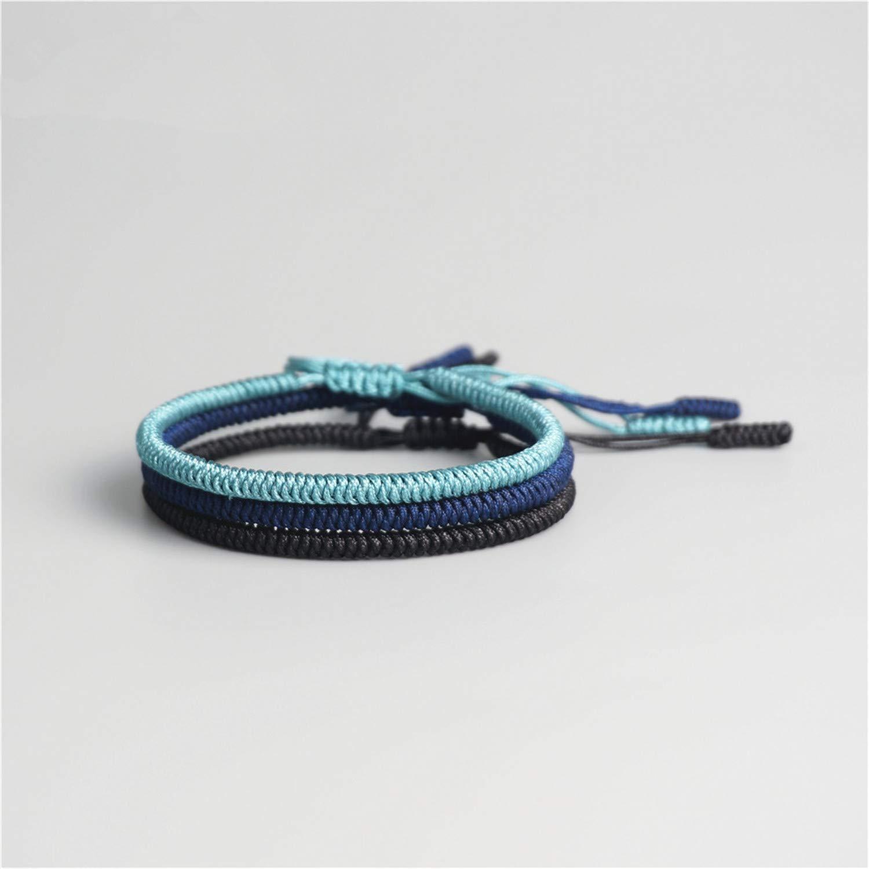 3PCS Multi Color Tibetan Buddhist Good Lucky Charm Tibetan Bracelets & Bangles for Women Men Handmade Knots Rope Bracelet Susan1999