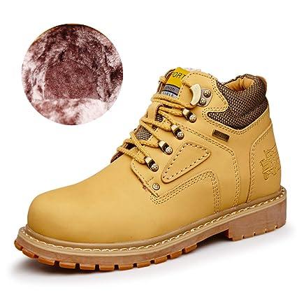 YAJIE-boots, Botines clásicos Ocasionales de los Hombres Alrededor de la Parte Superior Superior