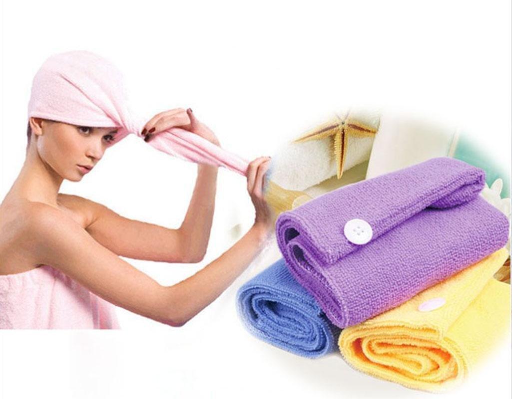 Lady's Magic Hair Drying Towel/Hat/Cap Quick Dry Bath
