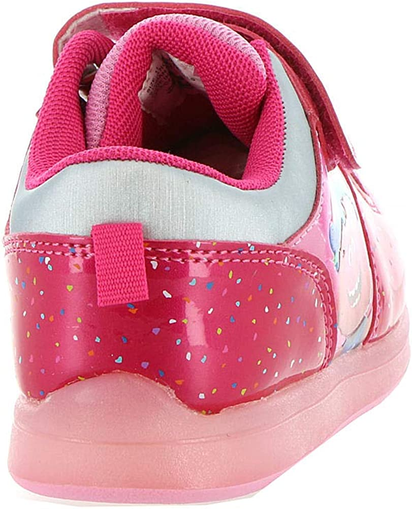 Favorite Characters Trolls Girls Motion Lighted Athletic Shoes Toddler//Little Kid Pink