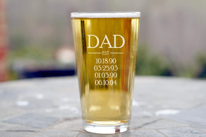 perfektes Vatertagsgeschenk Herz /& Heim/® Bester Papa Zollstock mit Namensaufdruck