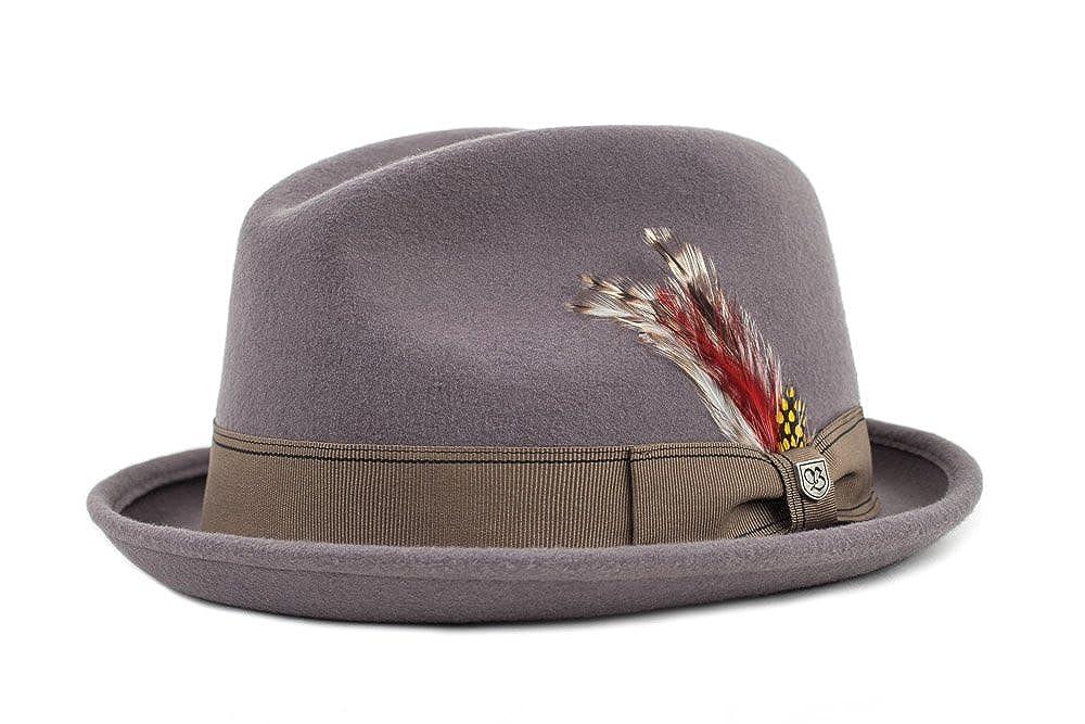 Brixton Mens Gain Short Brim Felt Fedora Hat 00001