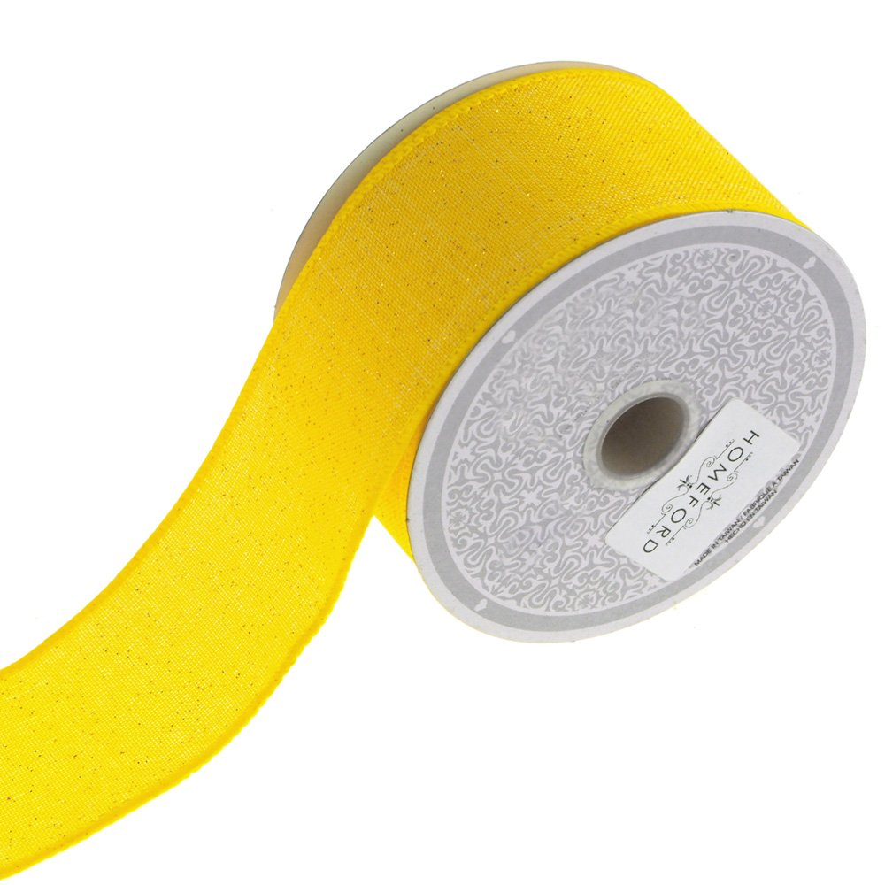 Homeford FCR000CGR2000YEL Ribbon, 2'', Yellow