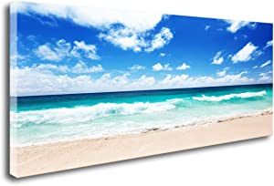 FC1475 Canvas Prints Wall Art Seychelles Beach Ocean Waves Nature Seascape Picture Paintings Artwork Prints Framed Ready to Hang for Home Office Bedroom Living Room Bathroom Kitchen Wall Decor