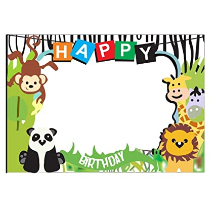 Buy Party Propz Jungle Theme Photobooth Frame (2Ft) For Jungle ...