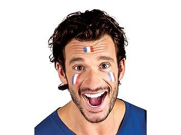 Maquillage Supporter France stick Bleu Blanc Rouge (Alsino 62044) allez les  bleus coupe du