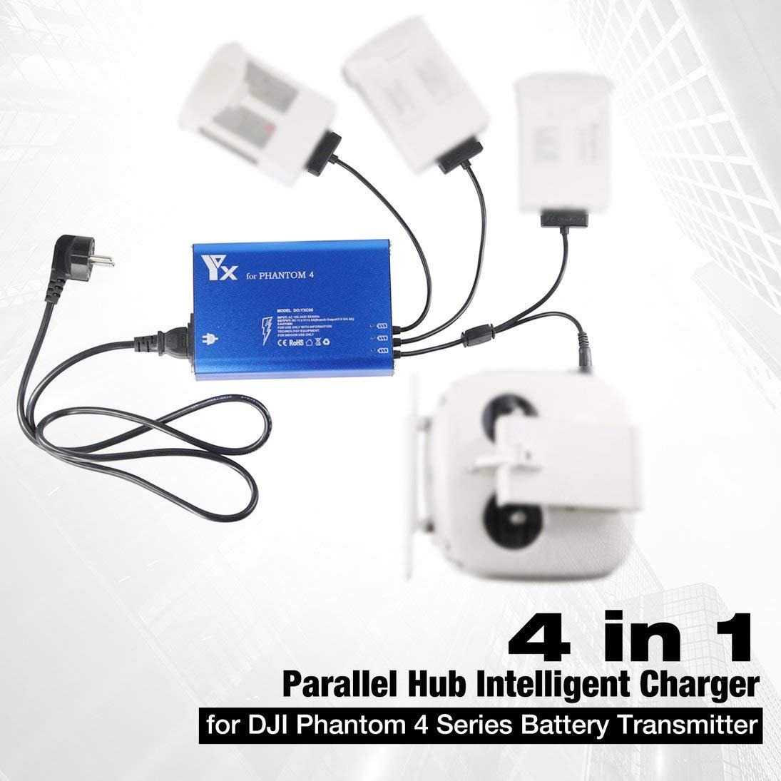 WEIHAN 4 en 1 Parallel Power Hub Transmisor de batería inteligente ...