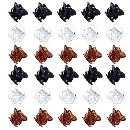 bas prix large éventail Chaussures de skate 30Pièces Mini Pinces À Cheveux En Plastique Pour Femmes Petites Pinces À  Cheveux Filles Pinces (brun, noir, clair) …