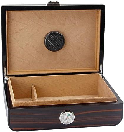 Accesorios de cigarrillos Cigarro madera caja de cigarros caja de cigarros cuadro de ébano Solid humedad constante cigarro suave humidor, capacidad 35 cigarro (Color : Wood , Size : 28*20.5*10cm) : Amazon.es: Hogar
