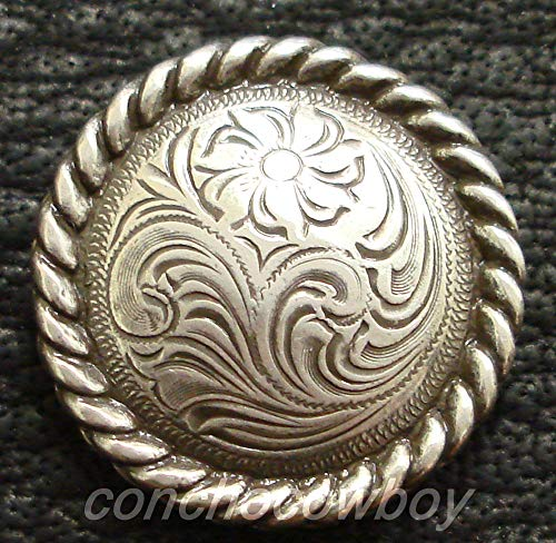 - Conchos for Clothes Western Horse Headstall Saddle TACK Antique Rope Edge Concho 5/8