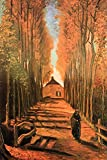 Vincent van Gogh Avenue of Poplars in Autumn Art Print by Vincent van Gogh 24 x 36in with Poster Hanger