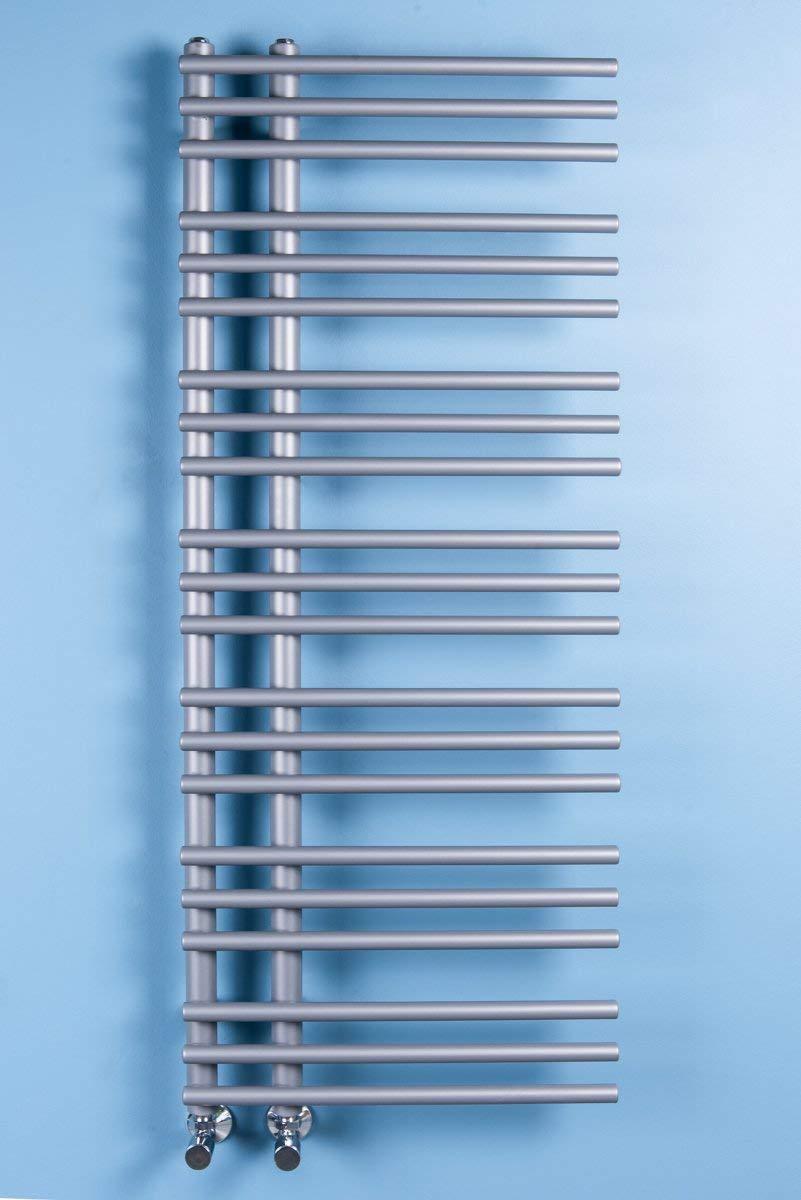 W/ärmehaus Designer Handtuchheizk/örper Badheizk/örper 1270 x 500 mm Silber