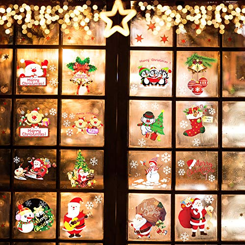 Christmas Wall Stickers Window Decorations Clearance - Holiday