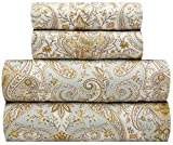 waverly sheets - Traditions by Waverly Lyrical Legend - Shitake Luxury Microfiber Paisley 4-Pc. Bed Sheet Set, Queen