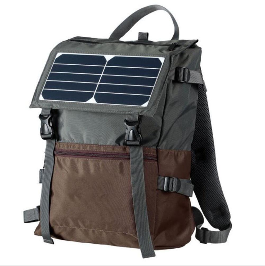 RDJM Escursionismo Zaino Solare Outdoor Alpinismo Borse 5W Pannello Solare per Camping Travel Zaino