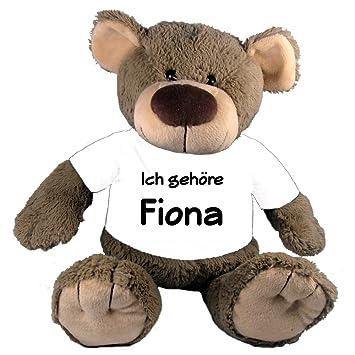 De peluche oso de peluche con T-Shirt regalo personalizado con su nombre elección de