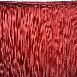 Chainette Fringe 18'' Long Black/Burgundy/Red/Neon Green/Neon Yellow/Wine(Price per Yard) (Wine)