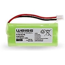 Batería Weiss para Siemens Gigaset A12, A120, A14, A140, AS140, AL4H, A145, AS15, A160, A165, A240, A24, A245, A260, A26, A265, Q063, T-Com Sinus 100, Universum CL15, SL15 (reemplazo de: V30145 K1310 X383