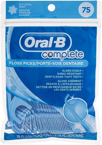 Pack de 75 aplicadores de hilo dental Oral-B, sabor menta: Amazon ...