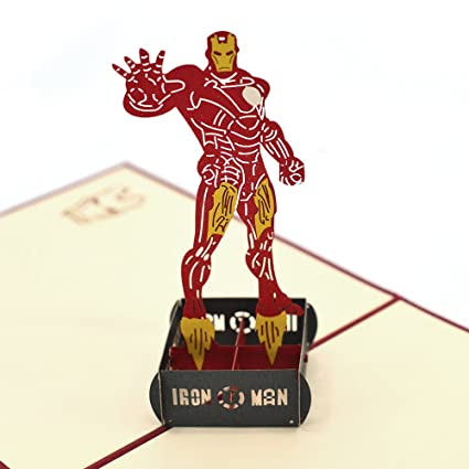 Amazon Com Pop Up Cards Dreamlevel 3d Superhreo Iron Man Greeting