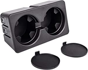 Eleven Guns Dual Cup Holder Insert for Compatible with 2007-2013 Silverado Sierra 1500 2500HD 3500HD, 2007-2014 Suburban, Yukon, Tahoe-Replacement 19154712 Floor Mounted Center Console Beverage Drink