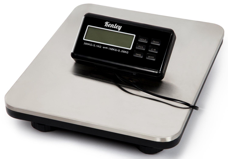 Kenley Balanza Digital Báscula de Plataforma 150kg / 300kg - para Paquete Envíos Postal - Balanza