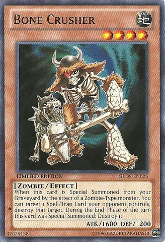 Yu-Gi-Oh! - Bone Crusher (GLD5-EN025) - Gold Series: Haunted Mine - Limited Edition - Common