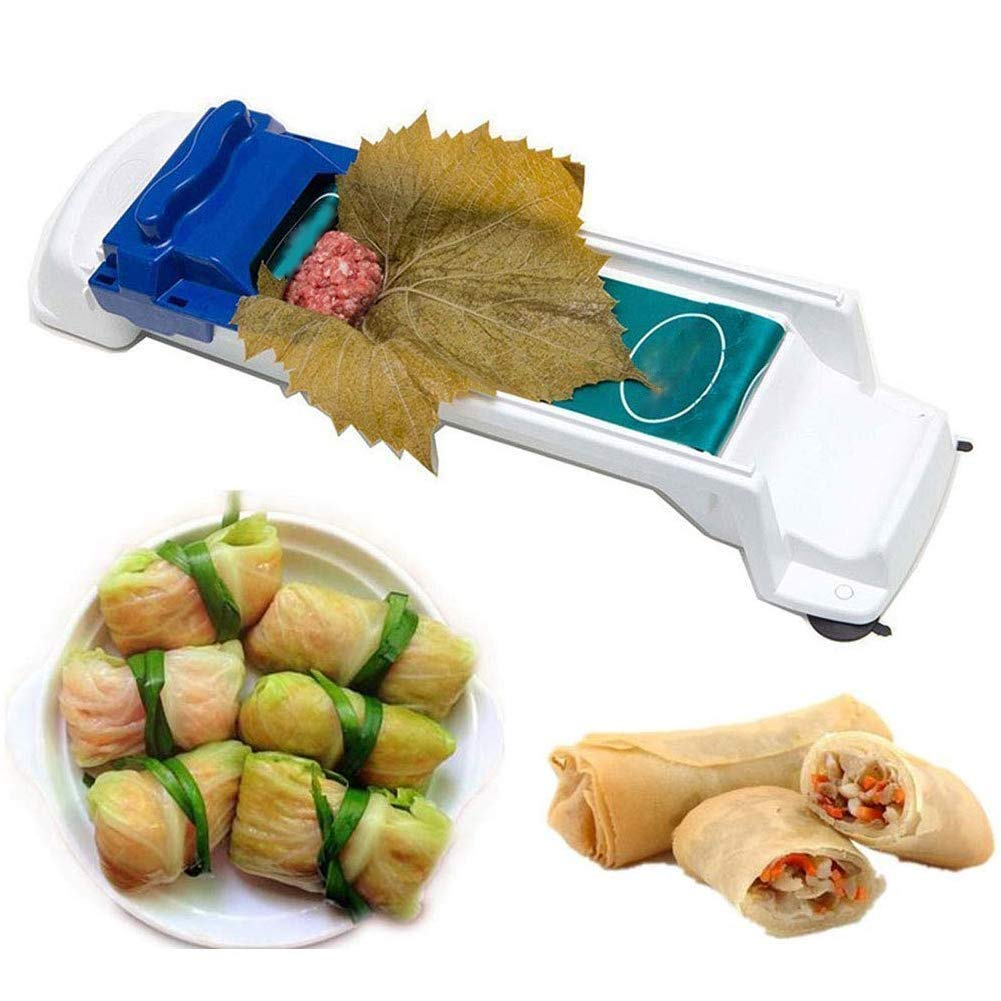 lifeasysoso Meat and Vegetable Roller Kitchen Rolling Tool Sushi Maker Machine Dolma Sarma Roller Stuffed Grape Cabbage Leaves
