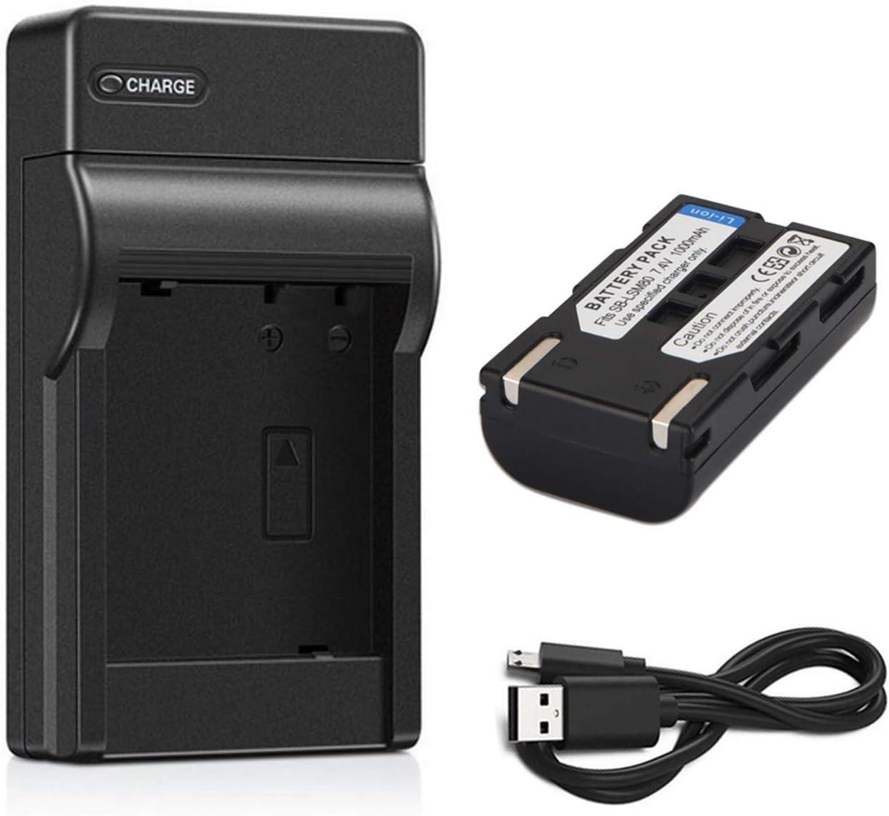 VP-D453i VP-D452Bi Battery VP-D454i VP-D455i Digital Camcorder Charger for Samsung VP-D451i