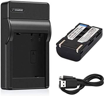 Battery VP-DC161i 2-Pack VP-DC161Wi VP-DC161WB VP-DC161WBi Digital Camcorder and USB Charger for Samsung VP-DC161 VP-DC161W