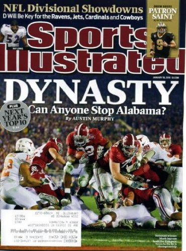 (Sports Illustrated January 18 2010 Mark Ingram/Alabama Crimson Tide on Cover, Drew Brees/New Orleans Saints, New Orleans vs Dallas Cowboys, Indianapolis Colts vs New York Jets,)
