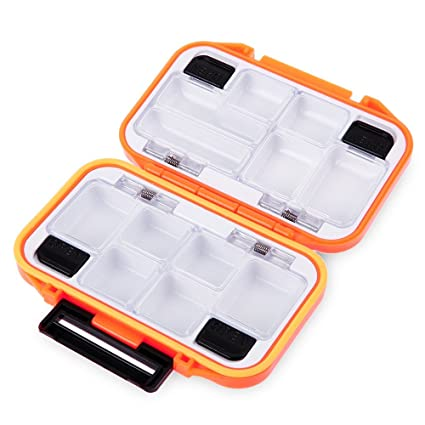 12 Compartments Fishing Waterproof Lure Spoon Hook Bait Tackle Storage Box Case
