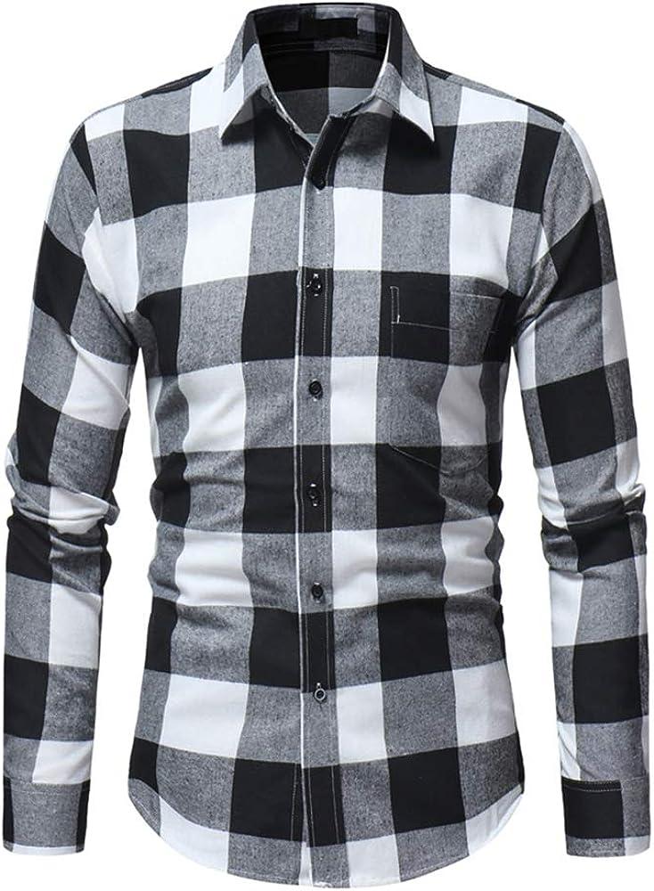 tobaling hombre camisa a cuadros sin planchar de manga larga franela no necesita planchado): Amazon.es: Ropa y accesorios