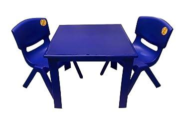 *Fiore* Kleine Farbige Kunststoff Tisch Mit Abnehmbaren Beinen Und 2  Passenden Kinder Kunststoff Stühle