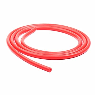 """1/4"""" 6mm Silicone Vacuum Hose Tube High Performance 1 Foot Red"""