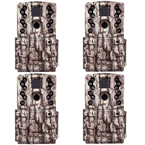 Moultrie Low Glow 12 MP Mini A20 Long Range Infrared Game Cameras AC-20 (4 Pack)
