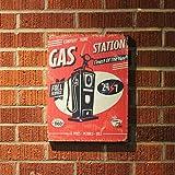 Vintage Parts 323947 Retro Gas Station Wooden Sign, 1 Pack