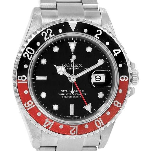 Rolex GMT Master II Automatic-Self-Wind Reloj para Hombre 16710 (Certificado prepropietario