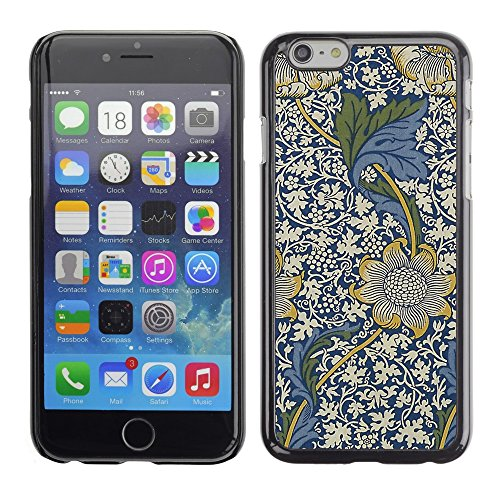 Soft Silicone Rubber Case Hard Cover Protective Accessory Compatible with Apple iPhone? 6 (4.7 Inch) - blue floral pattern white flowers