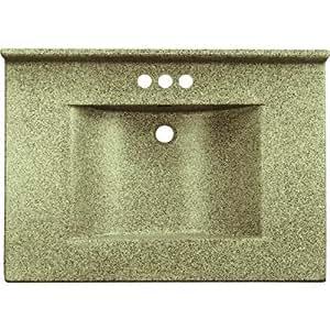 Imperial VW2522CAPSS Center Wave Bowl Bathroom Vanity Top ...