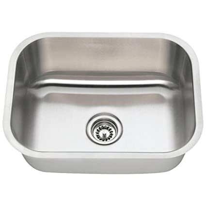 Charmant 2318 16 Gauge Undermount Single Bowl Stainless Steel Sink
