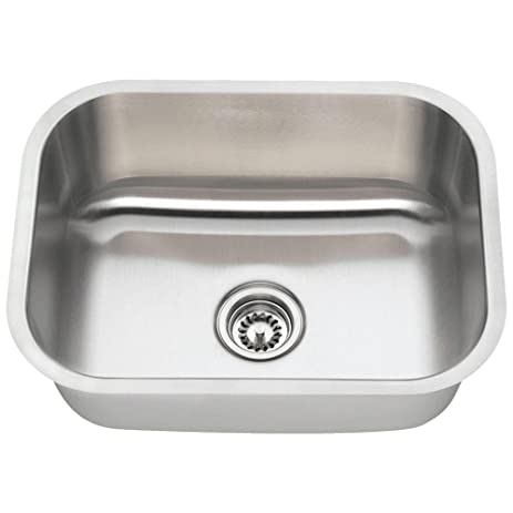 Medium image of 2318 16 gauge undermount single bowl stainless steel sink