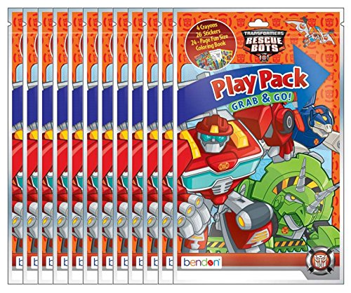 Transformers Rescue Bots Grab and Go Play Packs (Pack of 12) ()